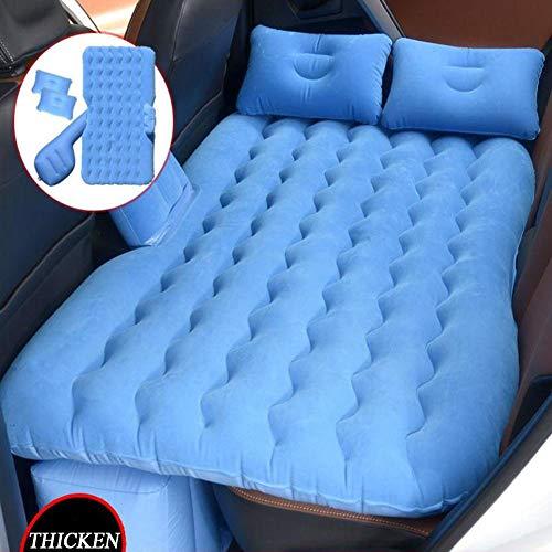 Auto Viaggio Gonfiabile Materasso Portatile Cuscino da Campeggio Universale SUV Auto Air Couch Letto Aria Materasso da Campeggio con Cuscini Ad Aria Sedile Posteriore Auto Materasso Letto Blu
