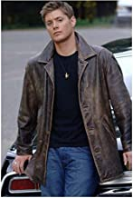 Sexy Dean Winchester in Brown Leather Jacket Leaning Back Against His Car - 8x10 Photograph / Photo - HQ - Supernatural