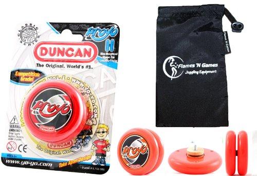 Duncan PROYO YoYo (Rouge) Pro String Trick Yo Yo + Sac de Voyage! Pro Yo-Yo pour Les Enfants et Les Adultes!