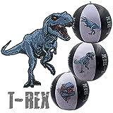 Inflatable Beach Ball Set, Shark, T-rex Dinosaur Dragon, Swimming Pool Floats...