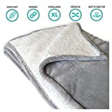 Snuzzle Extra Large Pet Blanket Durable Luxury Sherpa Blanket for Cats, Dogs, Puppies, Kittens | 50' X 60' | Suitable for Pet Beds, Kennels, Animal Crates, Couches, Cars and More!