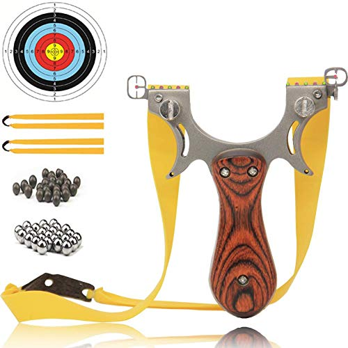 COOY Slingshot Professional Upgraded Light Slingshot for Hunting with 2 Rubber Bands and 4 Mechanical Sights Adult Outdoor Catapult Set …
