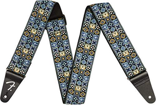 Fender® Festival - Tracolla per chitarra - Tessuto d'ispirazione vintage - Mosaico blu