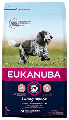 EUKANUBA Senior Medium per Cani Anziani di Taglia Media - 3 kg