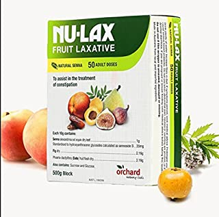 Nulax Fruit Laxative Block 500g Made From Pure Dried Fruits Made in Australia