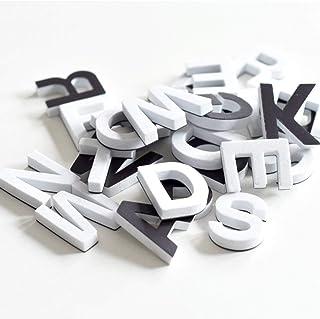 TIMESETL アルファベット磁石 冷蔵庫マグネット 知育 北欧 インテリア おしゃれ かわいい (26個入りホワイト)