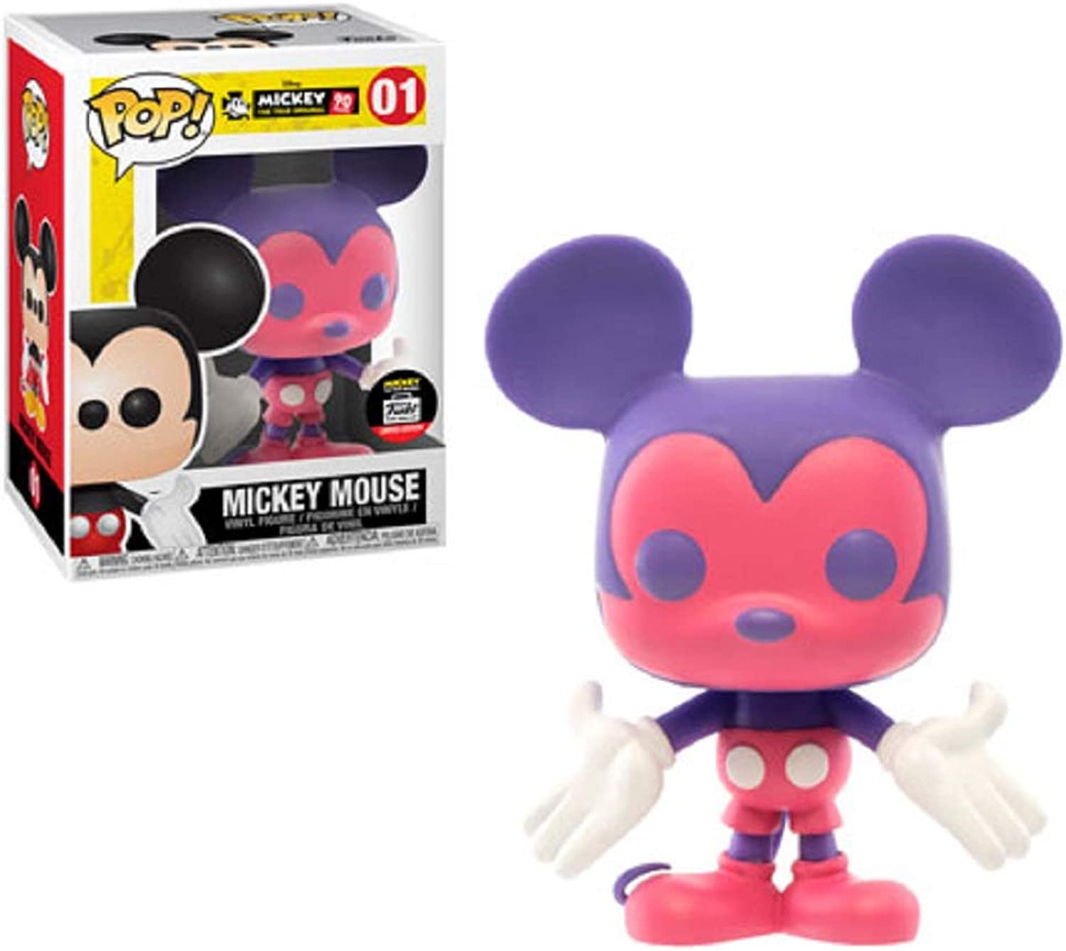 Funko Pop  Disney Mickey Mouse Pink & Purple  01 Funko Shop Limited Edition Exclusive