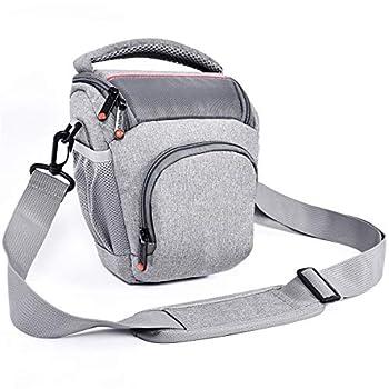 FOSOTO Compact DSLR Camera Bag Shoulder Crossbody Case Compatible for Canon EOS Rebel T6 T7 T8i T100 SL3 XTi 4000D 2000D Nikon D5600 D3400 D3500 Pentax K-70 Olympus E-M10 with Waterproof Rain Cover