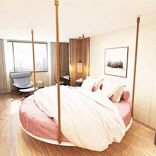 MU Thème Shaker Chambre Hamac Rouge Net Intérieur Fer Forgé Suspendu Lit Adulte Hôtel Lit Balançoire,blanc,2M