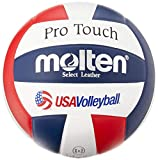 Molten Pro Touch Volleyball (Red/White/Blue, Official)