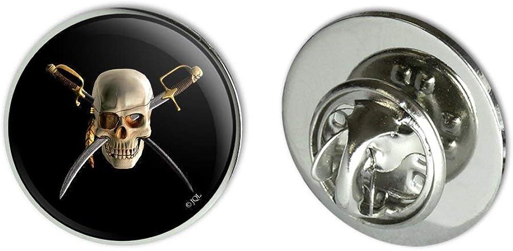 GRAPHICS & MORE Pirate Skull Crossed Swords Patch Metal 0.75