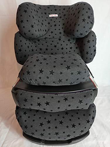 Moon-Bebe Housse pour Cybex Pallas, Silver Pallas Fix et Balles 2 Fix Noir (Black Stars)