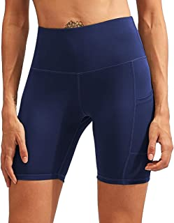 Yoga Shorts for Women with Pockets, High Waisted Workout...