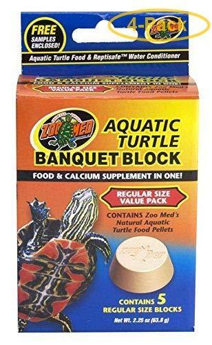 Zoo Med Aquatic Turtle Banquet Block Regular (5 Pack) - Pack of 4