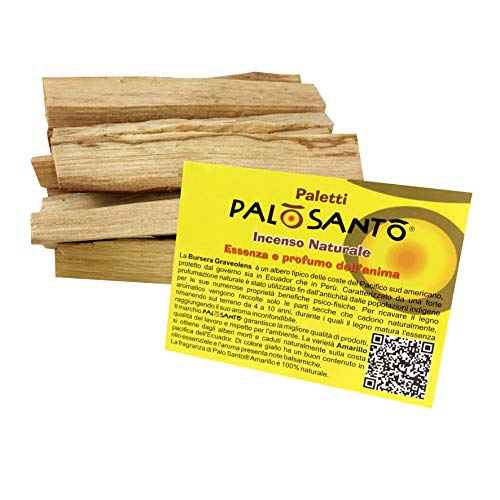 Bursera Graveolens Holy Wood Natural and Sustainable Incense direct from Peru Glow Himalayan Finest Palo Santo Wood Sticks 50g