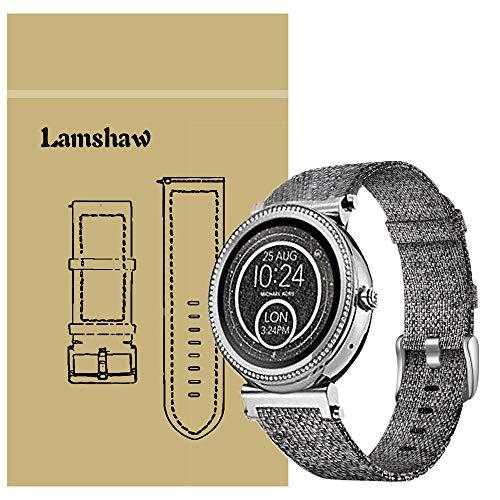 Ceston Moda Nylon Clásico Correas para Smartwatch Michael Kors Sofie (18mm, Gris)
