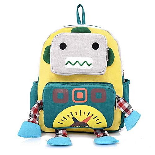 Cartoon robot hombro bolso ajustable lienzo escuela mochila multi uso robot al...