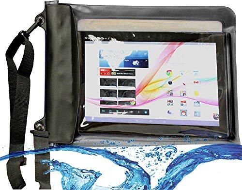 Navitech schwarzes Wasserfestes Case, Wasserfestes Cover für 10 Zoll Tablets Inklusive das ARCHOS 101b Copper