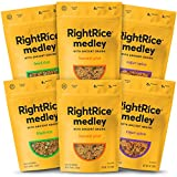 RightRice Medley Variety Pack (6oz. Pack of 6) - Made from Vegetables – Ancient Grains and More Veggies, Vegan, non GMO, Gluten Free