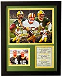 Legends Never Die Green Bay Packers QB's - Farve, Rodgers, Starr Collectible | Framed Photo Collage Wall Art Decor - 12'x15' |