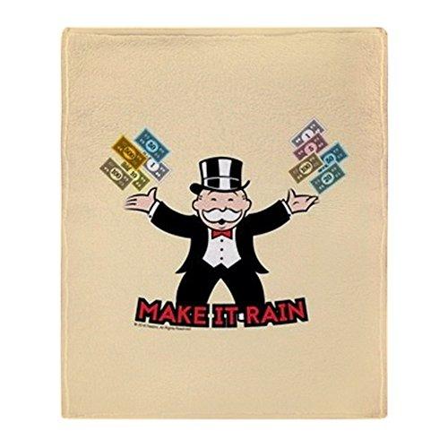 "CafePress Monopoly Make It Rain Throw Blanket Soft Fleece Throw Blanket, 50""x60"" Stadium Blanket"