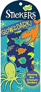 Peaceable Kingdom Glow in The Dark Sea Creatures Sticker Pack
