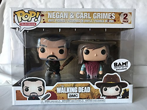 Funko - Figura Pop elaborada en Vinilo, The Walking Dead, Pack Doble con Negan y Carl Grimes, 21534