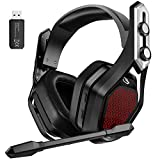 Mpow Iron Pro 2.4G Wireless Gaming Headset for PS4/PC Computer Headset with Dual