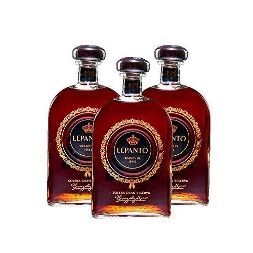Brandy Lepanto de 70 cl - D.O. Jerez de la Frontera - Bodegas Gonzalez Byass (Pack de 3 botellas)