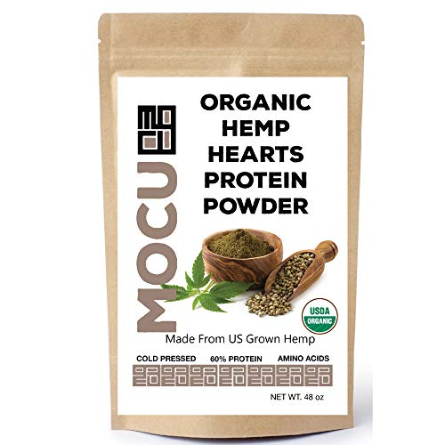 Organic Hemp Heart Protein Powder-60% | US Grown | Cold Processed & Stored | Made from The Hemp Heart | 3 LB