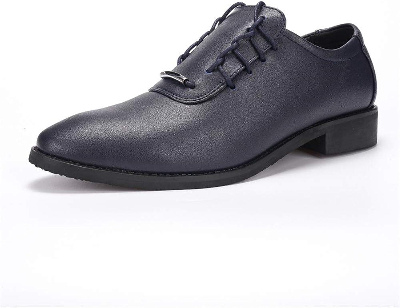 Shuo lan hu wai Herren Business Oxford Casual Spitz Mode Mode Mode und Persönlichkeit Klassische Mode Formelle Schuhe,Grille Schuhe (Farbe   Blau, Größe   43 EU)  0cc790