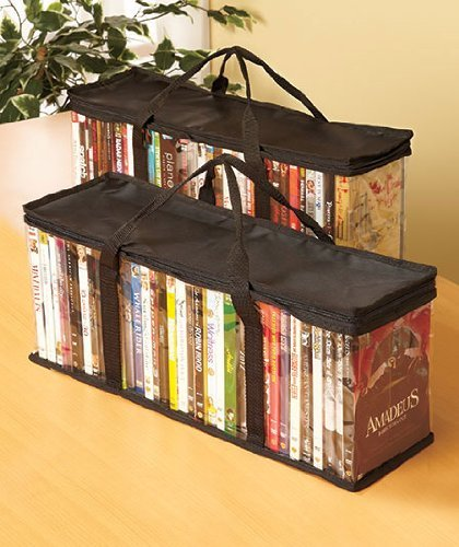 Set Of 2 Dvd Storage Bags (holds 40 Dvd's Each - 80 Total!)