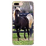 XMCJ. Black Horse for la Galassia S2 S3 S4 S5 S6 S7 S8 S9 Inoltre Nota 2 3 4 5 8 Trasparenti Copertine Soft Shell (Color : Images 8, Material : for Galaxy S7)