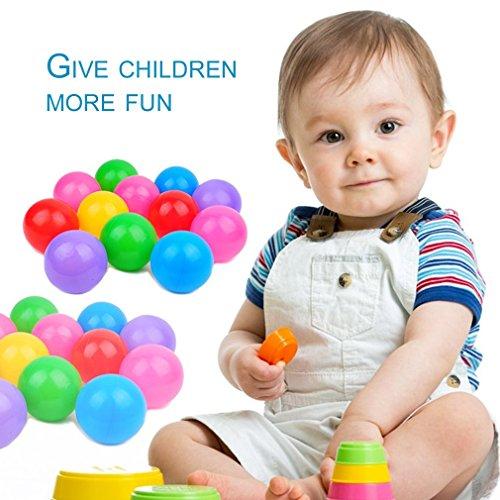 100pcs Mehrfarbenspielzeug-Ball-Swimmingpool-Ball ungiftig für Kinderspiel