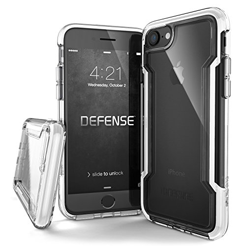 X-Doria iPhone SE/8/7, Defense Clear - Military Grade Drop Protection, Clear Protective Case for iPhone SE/8/7 (White)