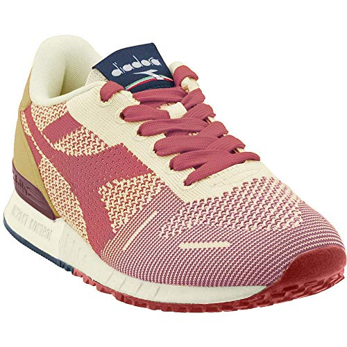 Diadora Mens Titan Weave Casual Sneakers, Off White;Red, 9.5