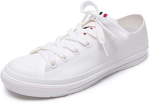 Bottes de pluie Chaussures de loisirs en PVC à à à lanières triCouleures basses pour aider à la pluie bottes femme imperméables chaussures en caoutchouc antidérapantes avec bottes de pluie doubleure en tissu d38