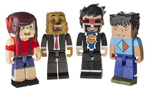 Tube Heroes AshleyMarieeGaming, JeromeASF, CaptainSparklez & Vikkstar123 Action Figure 4-Pack by Jazwares