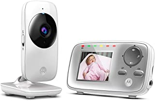 Motorola MBP 482 - Vigilabebés vídeo con pantalla LCD a color de 2.4 modo eco y visión nocturna color blanco