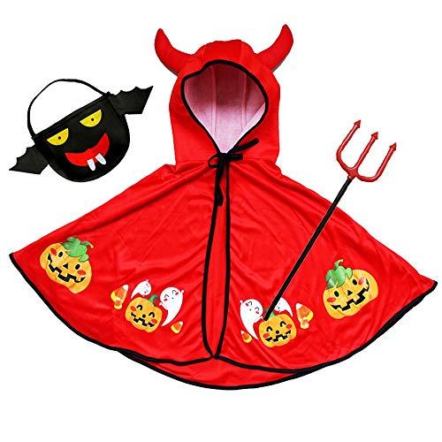 MED Los niños de Halloween de Trajes de Disfraces Diablo Capa Padres e Hijos Cabo de Hornos (Color : C)