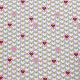 MAGAM-Stoffe Perlen-Herz Herzen Jersey Stoff Oeko-Tex