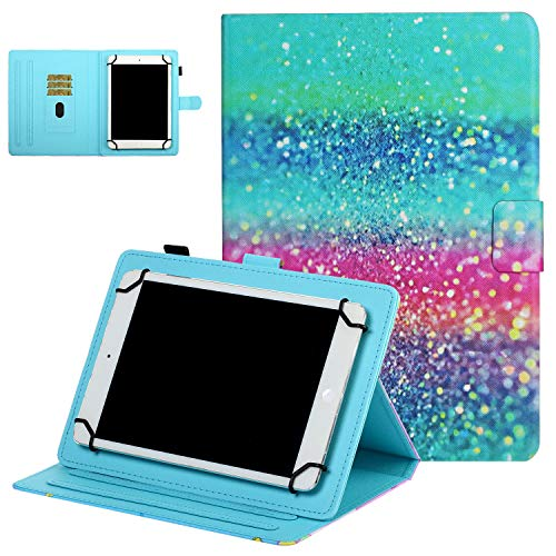 UGOcase 7.5-8.5 Inch Tablet Universal Case, Wallet Stand Cover w/Card Slots for Samsung Galaxy Tab E/4/A/S2 8.0, iPad Mini 1/2/3/4/5, Fire HD 8 2018 2017 2016, Other 7.5'-8.5' Tablet, Colorful Sand