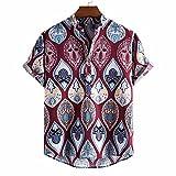 Camisas Informales de Lino para Verano Camisa Suelta de Ocio de Color Sólido con Botónes Top Blusa de Corte Recto con Bolsillo Estampada con Botones de de Verano