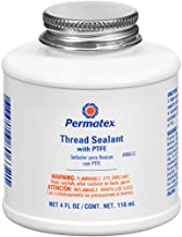 Permatex 80632 Thread Sealant with PTFE, 4 oz.