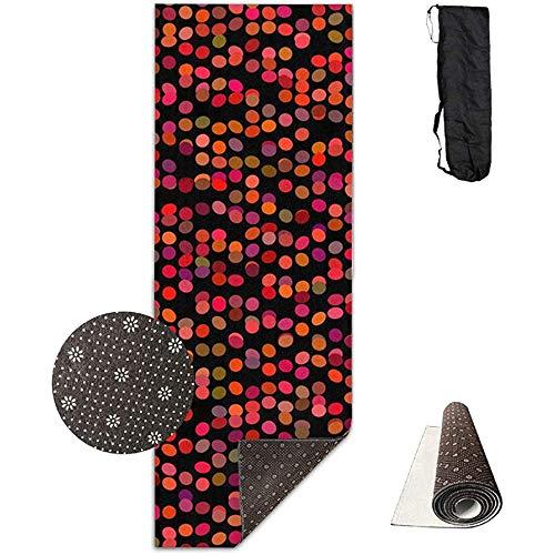 KDU Fashion Yoga Mat, polka dot patroon rood antislip absorberende grote fitnessmatten voor de balansoefening thuis