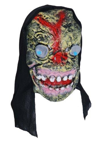 Zombie caoutchouc gris masque visage yeux