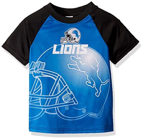 NFL Detroit Lions Boys Short Sleeve T-Shirt, Multi-Color, 4T
