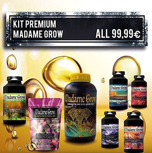 Madame Grow Engrais Cannabis Croissance, Nutrition, Floraison et éclats - KIT Premium 7 Pack - Toute la Gamme de nos nutriments pour la Marijuana - Économisez jusqu'à 59 Euros - (6x250 ML+30 grammes)