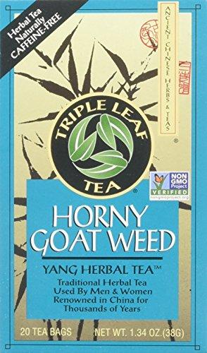 Triple Leaf Tea Horny Goat Weed - 20 Tea Bags (single pack of 20 tea bags)