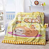 KaiWenLi Himouto! Umaru-chan-DOMA Umaru Climbing Down/Anime Cartoon Character Blanket / 3D Digital Printing/Single-Sided Pattern/Super Soft and Comfortable/Best Bedding/Suitable for Adults A